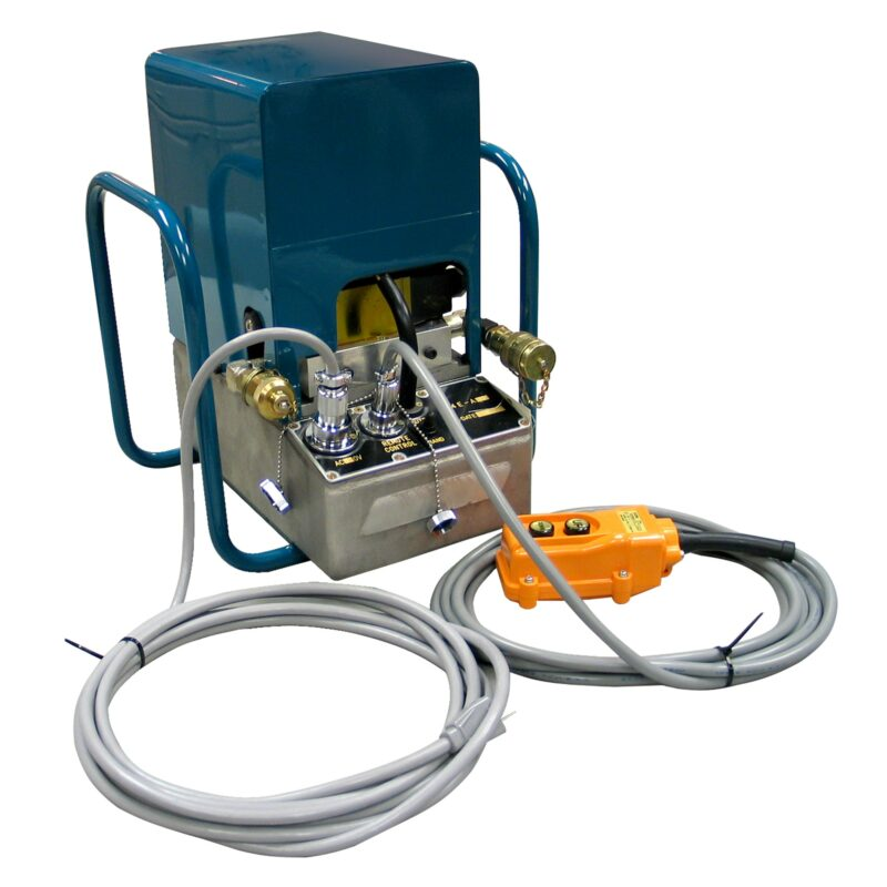 The R-14EAD is a fully remote controlled, double acting, 10,000 psi, electric pump.